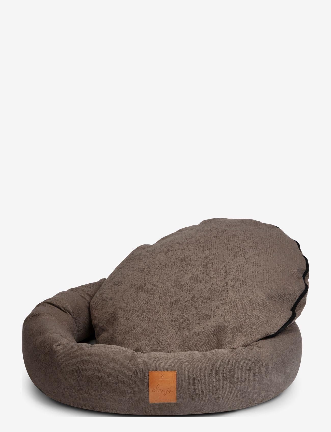 Denjo Dogs - Donut Bed Leather - hundesenge - brown - 1