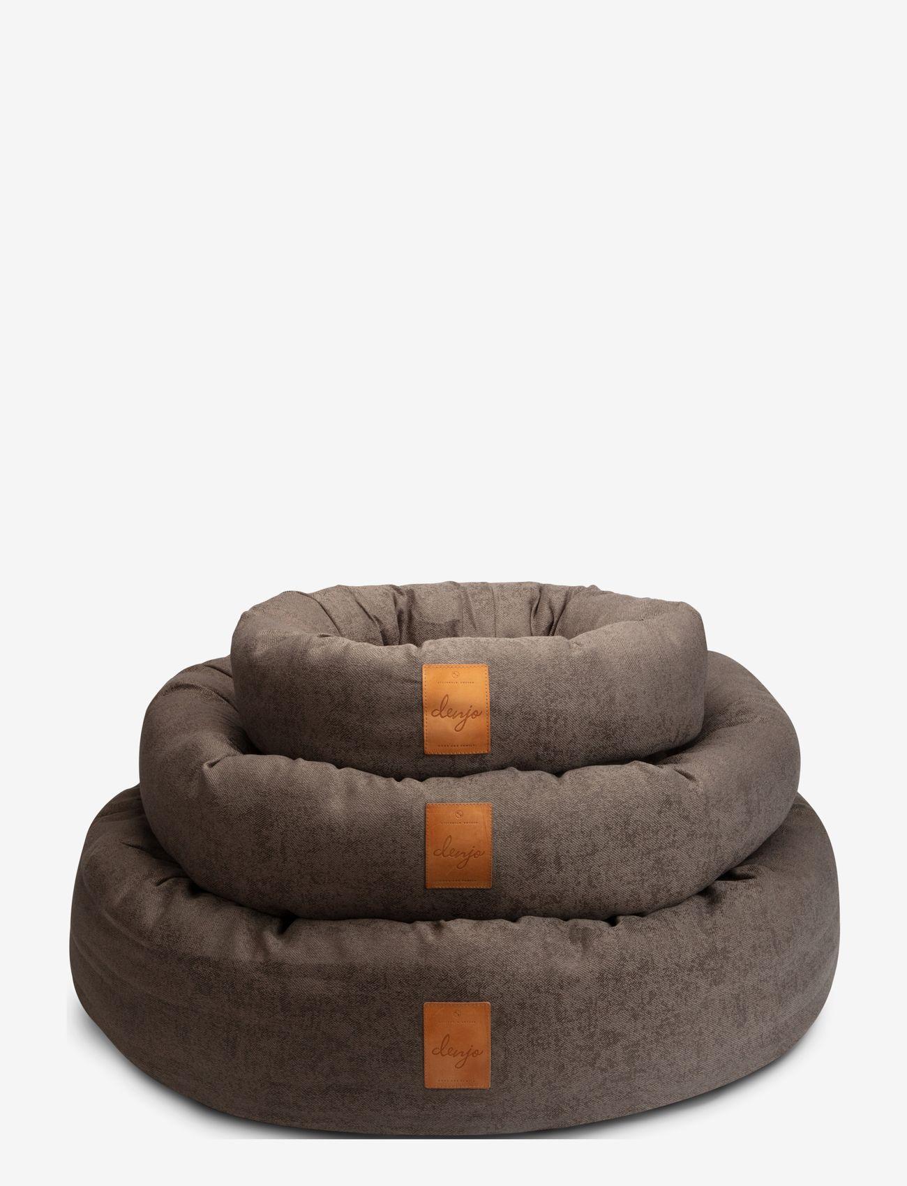 Denjo Dogs - Donut Bed Leather - hundesenge - brown - 4