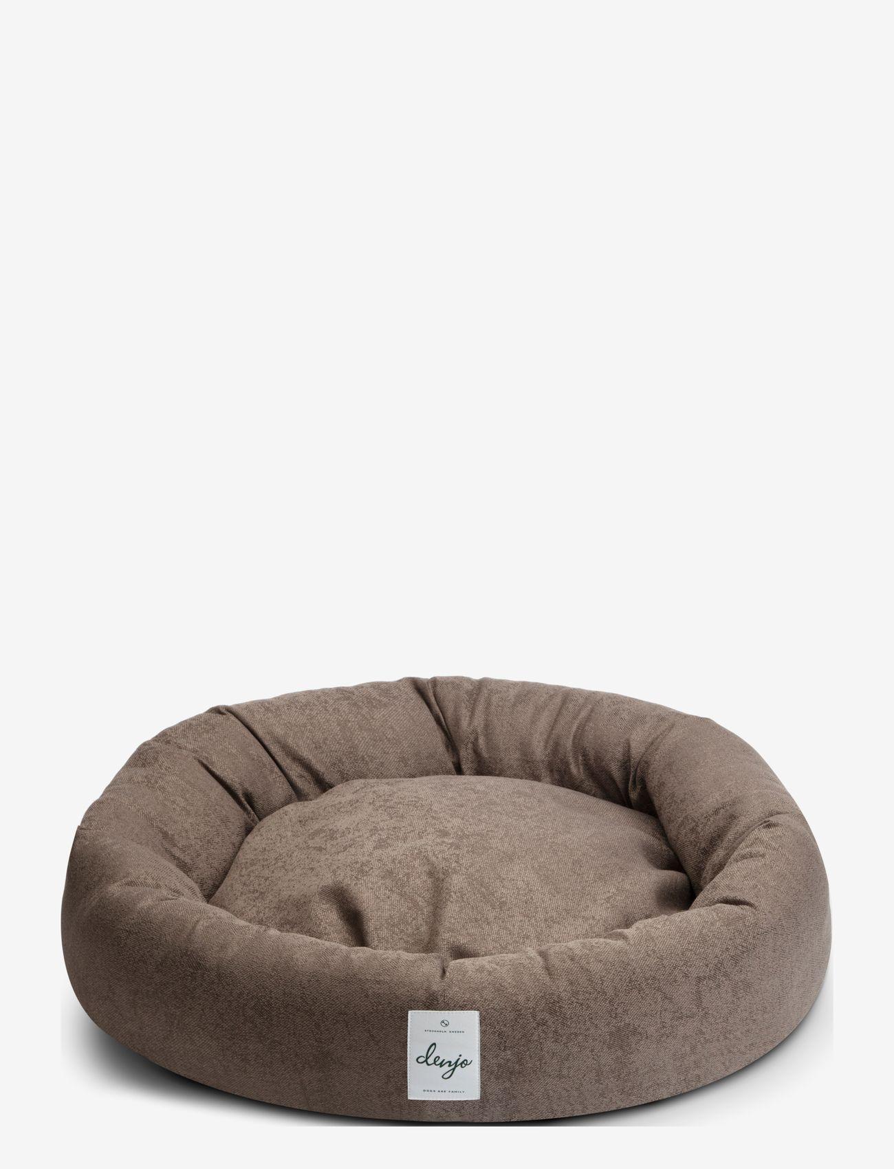Denjo Dogs - Donut Bed Textile - hundesenge - brown - 0