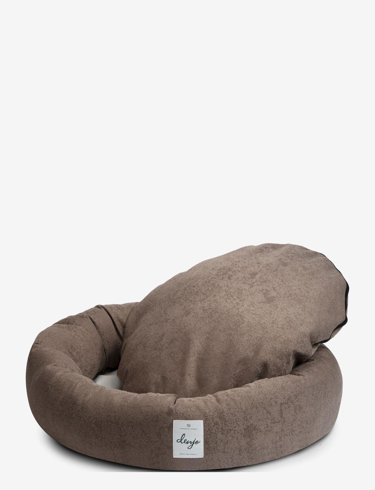 Denjo Dogs - Donut Bed Textile - hundesenge - brown - 1