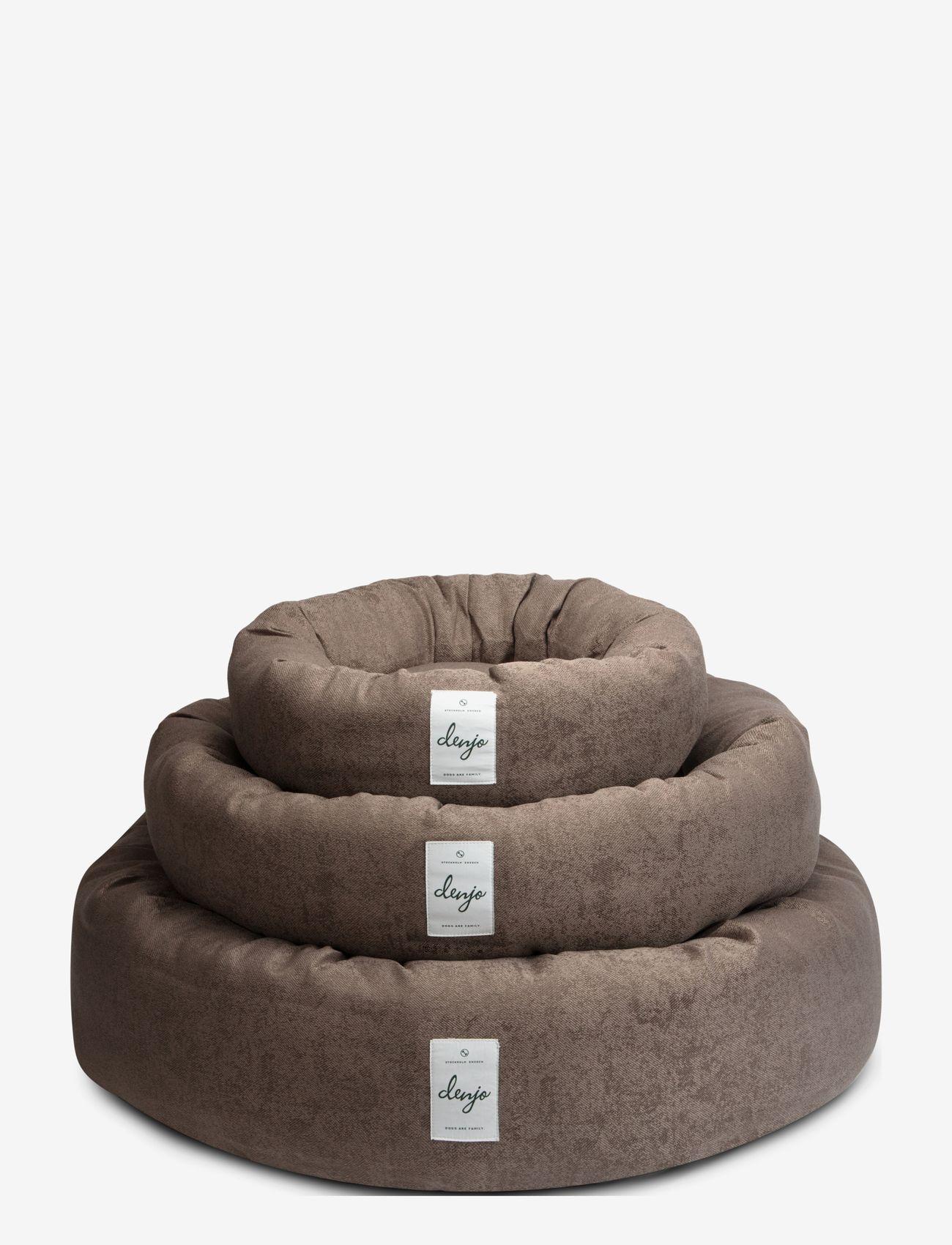 Denjo Dogs - Donut Bed Textile - hundesenge - brown - 4