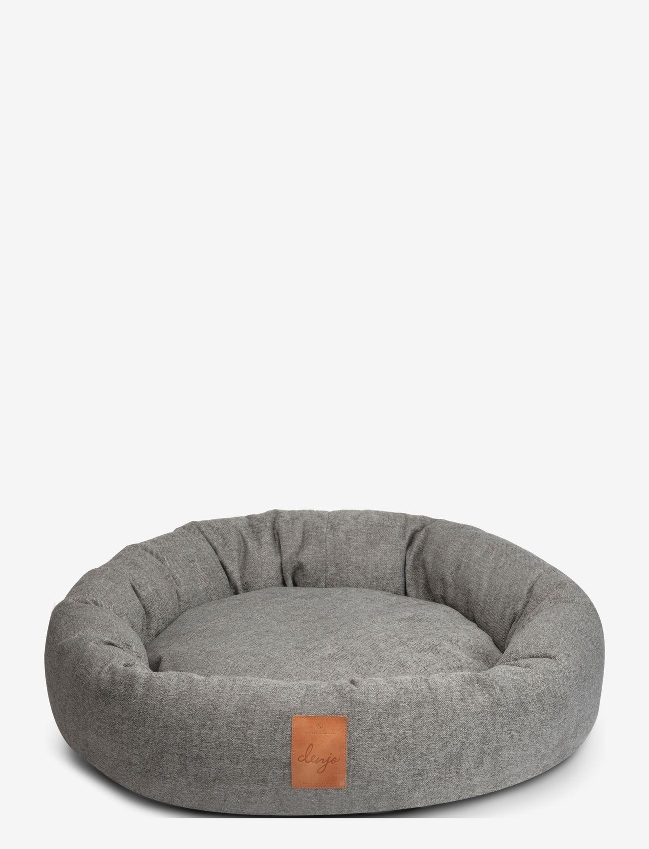 Denjo Dogs - Donut Bed Leather - hundesenge - graphite - 0