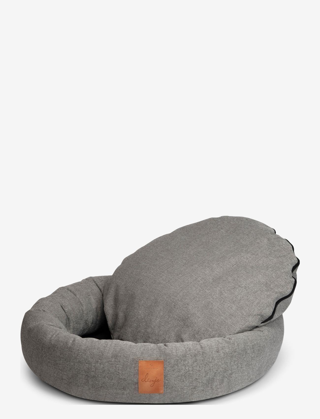 Denjo Dogs - Donut Bed Leather - hundesenge - graphite - 1