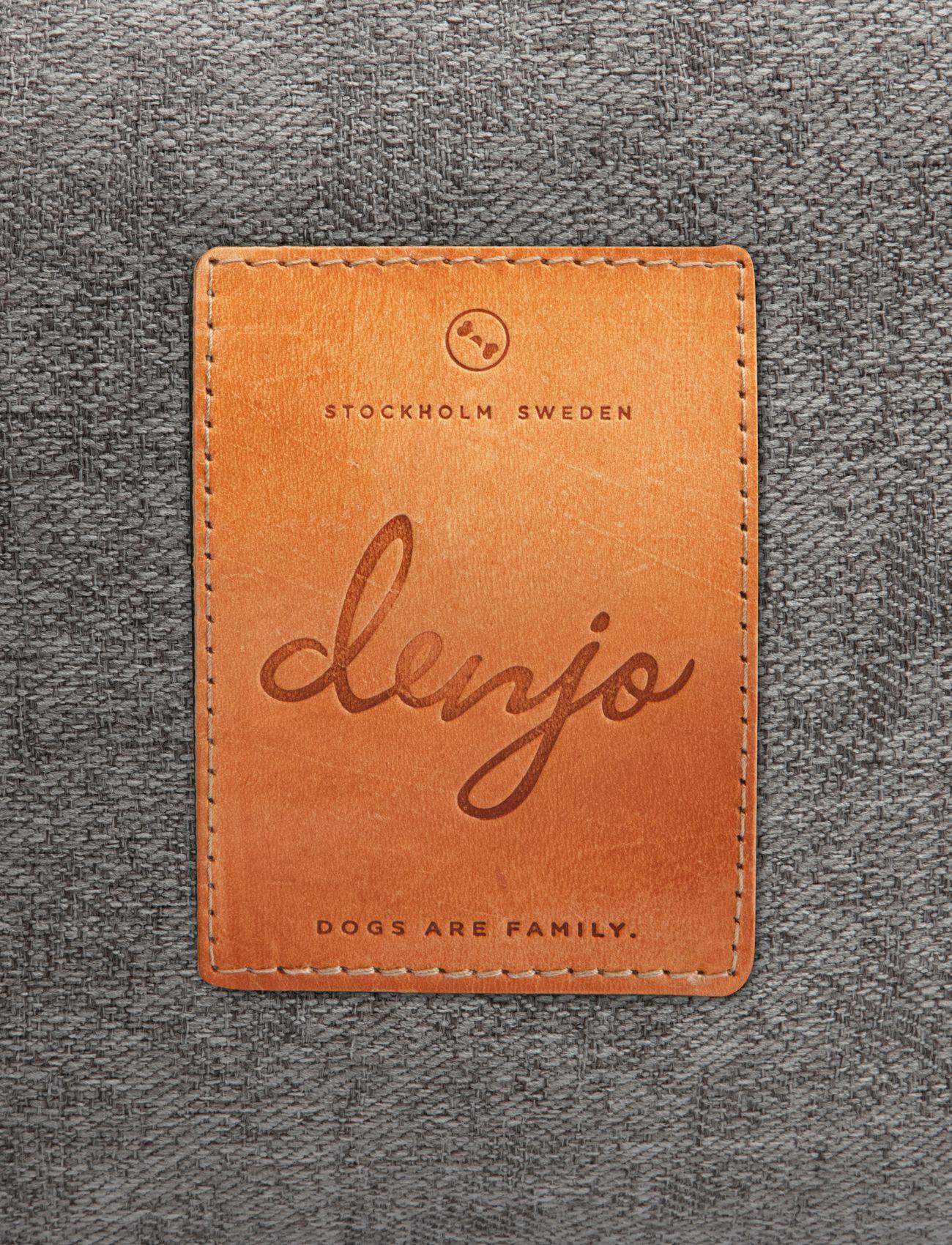 Denjo Dogs - Donut Bed Leather - hundesenge - graphite - 2