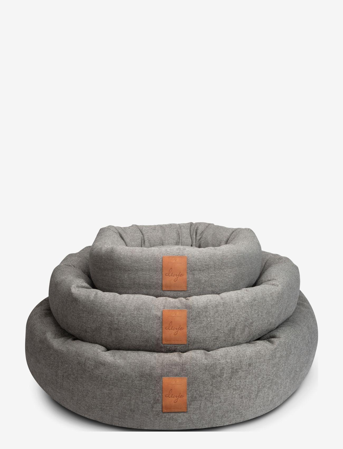 Denjo Dogs - Donut Bed Leather - hundesenge - graphite - 4