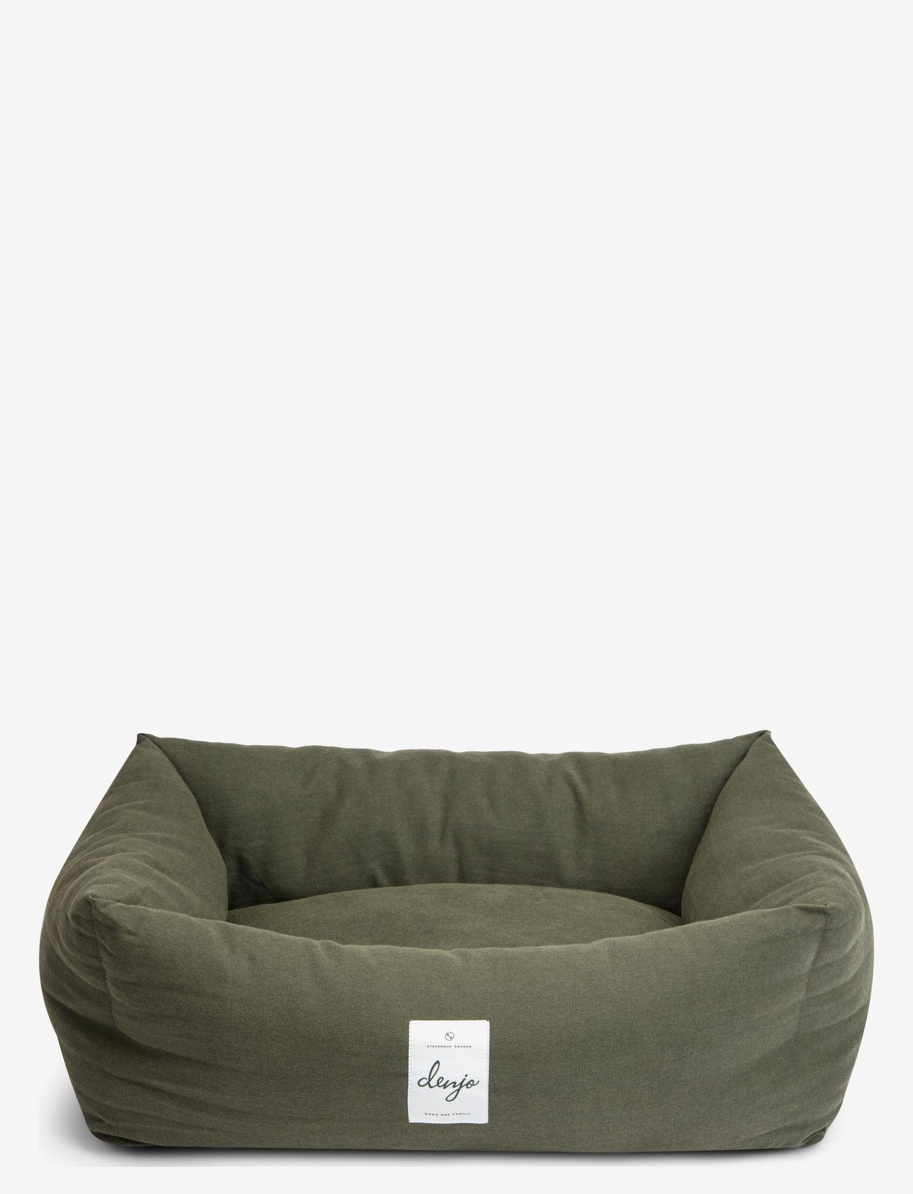 Denjo Dogs - Nest Bed - hundesenge - khaki green - 0