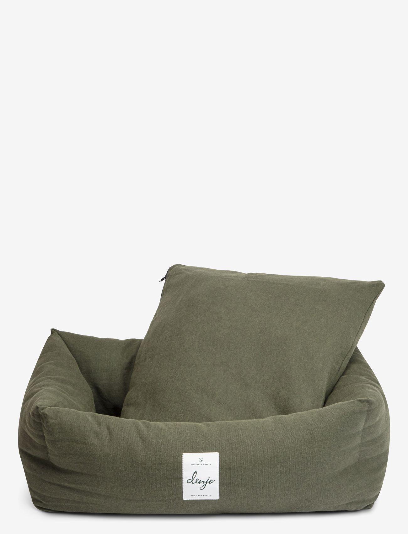 Denjo Dogs - Nest Bed - hundesenge - khaki green - 1