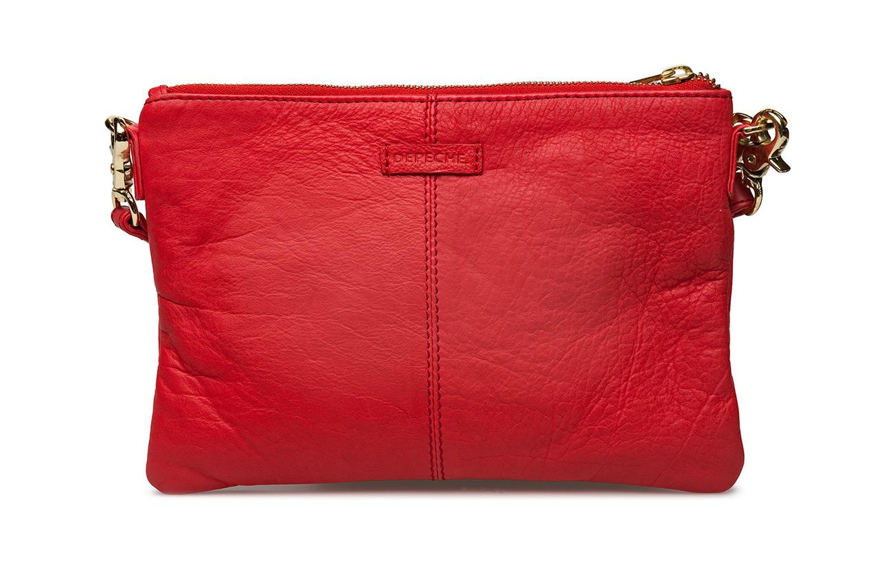 Sergé 100 Extérieure Clutch Coton Bag Dd Depeche Coquille Doublure Small Inner Cow Red UwYfXn7xq