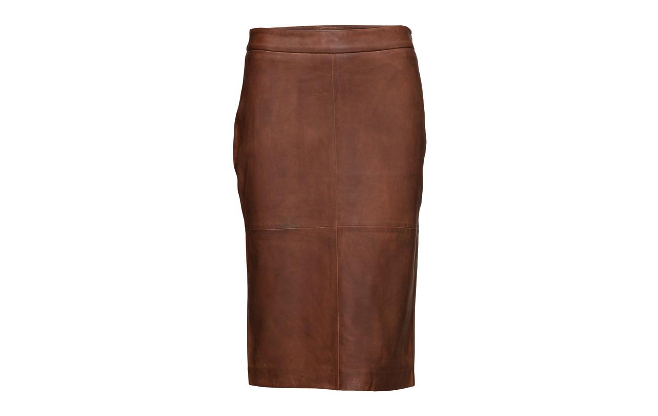 Inner Doublure Cognac 100 Extérieure Sergé Lamb Coton Skirt Depeche Coquille x07qwRUnH