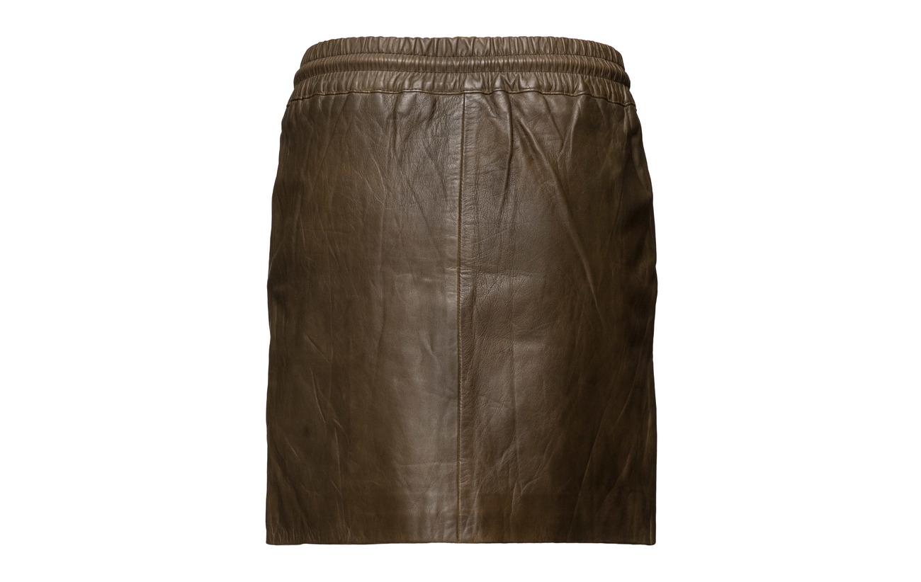 Skirt Lamb Waist Doublure Polyester Cuir With Smock 100 Intérieure Linning Inner Black Équipement Depeche qdnORxq