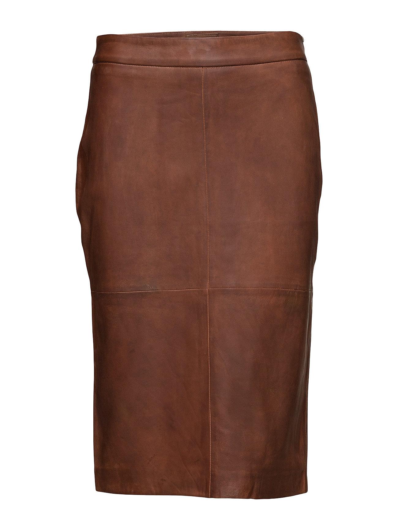 DEPECHE Skirt - COGNAC