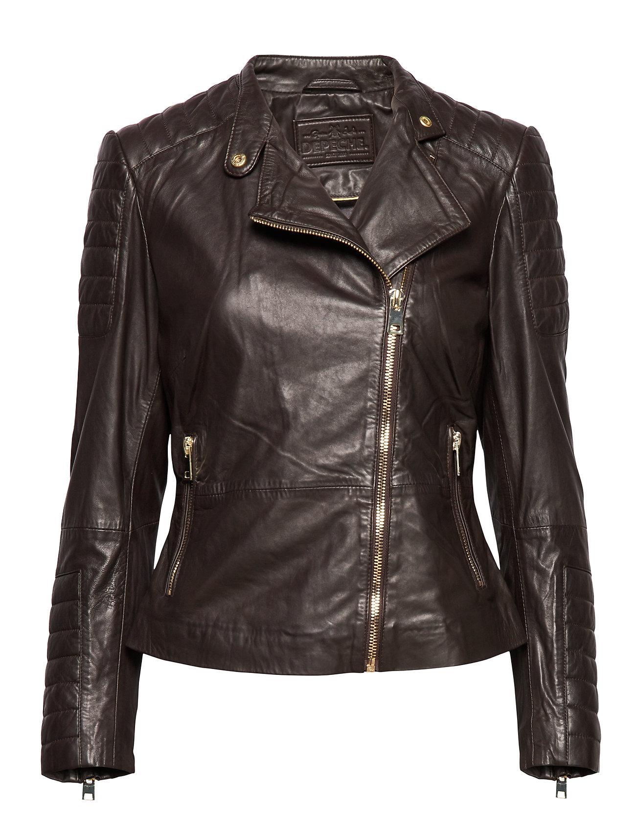 DEPECHE Jacket - BROWN