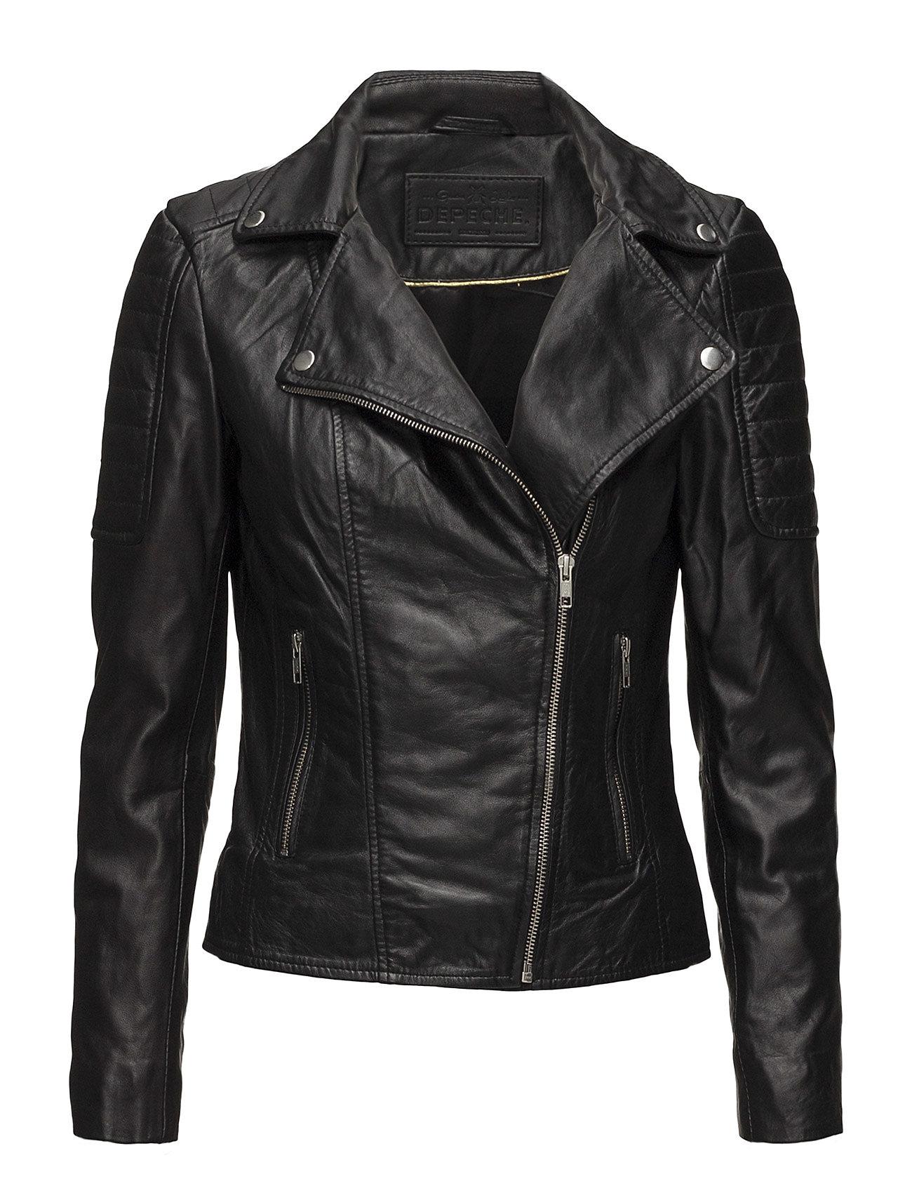 DEPECHE Biker jacket - Black