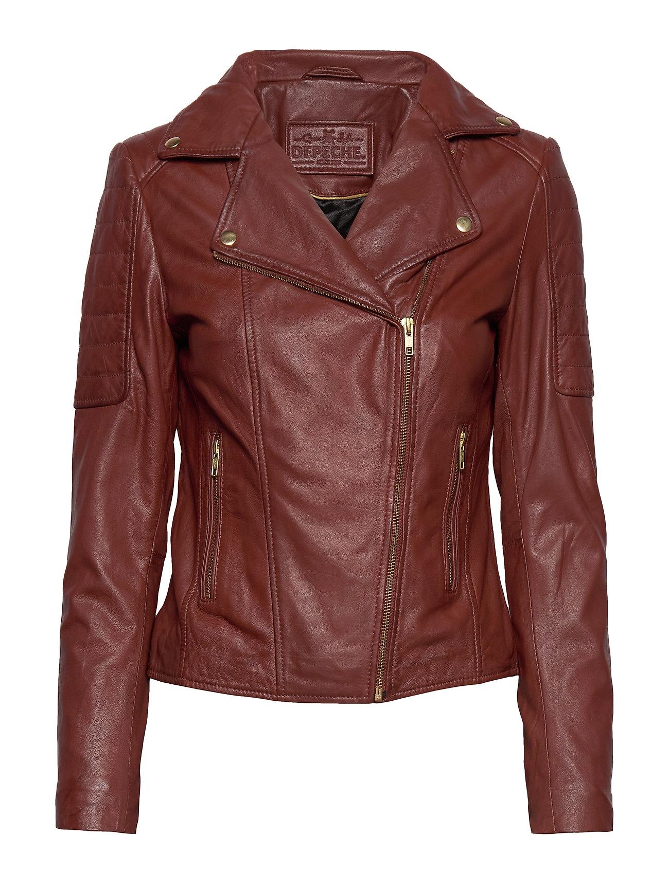 DEPECHE Biker jacket - SMOKED PAPRIKA