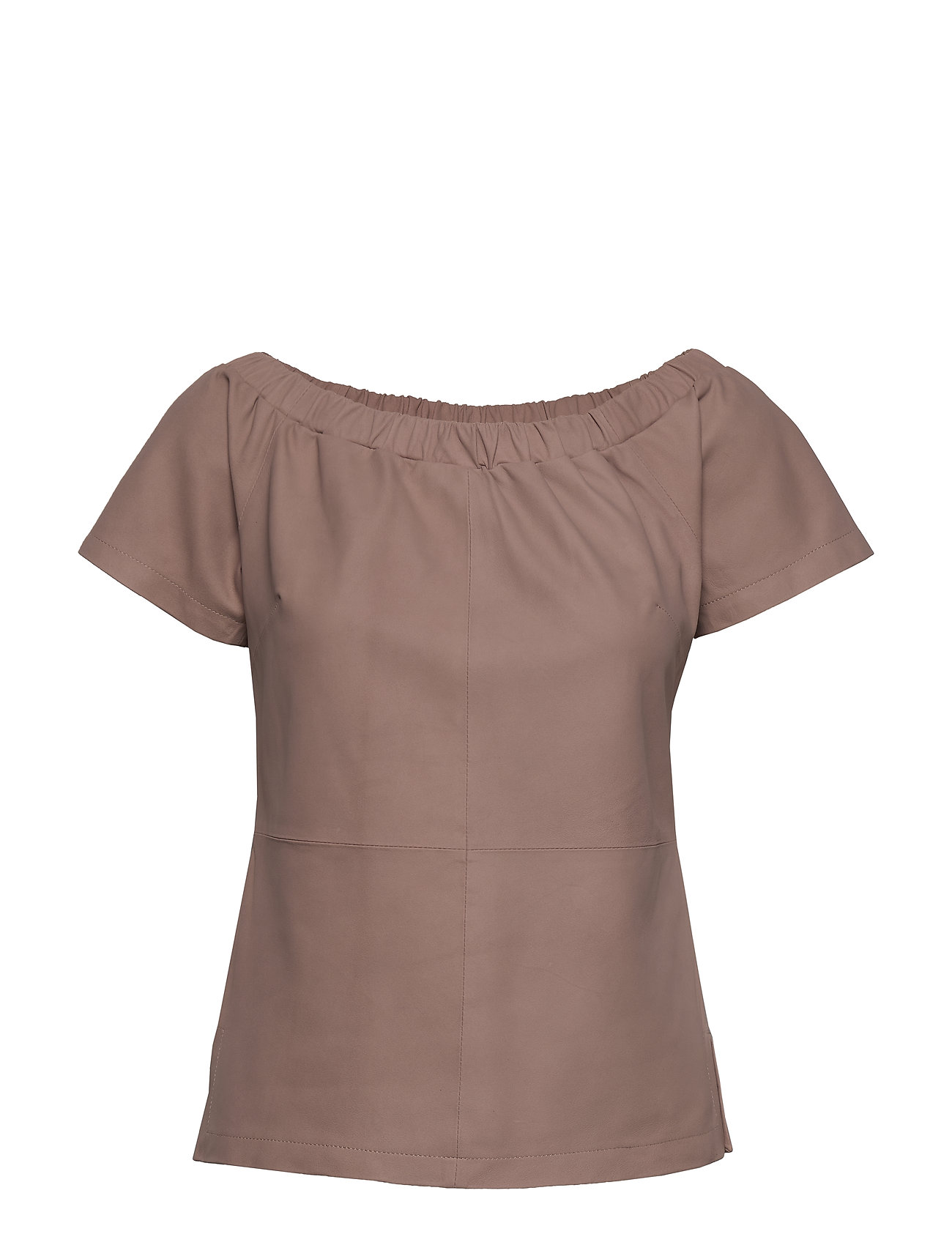 DEPECHE Top with short sleeves - DUSTY ROSE