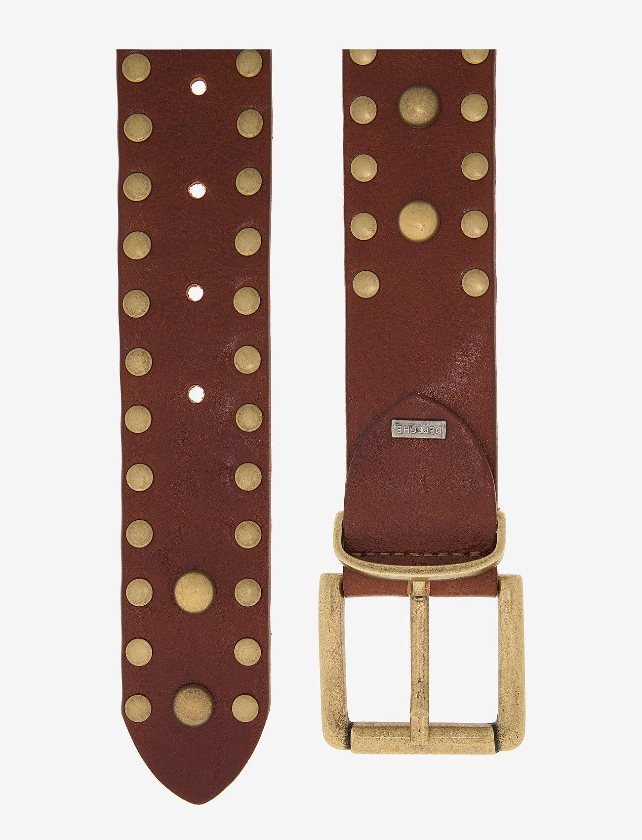 DEPECHE - Jeans belt - riemen - 014 cognac - 1