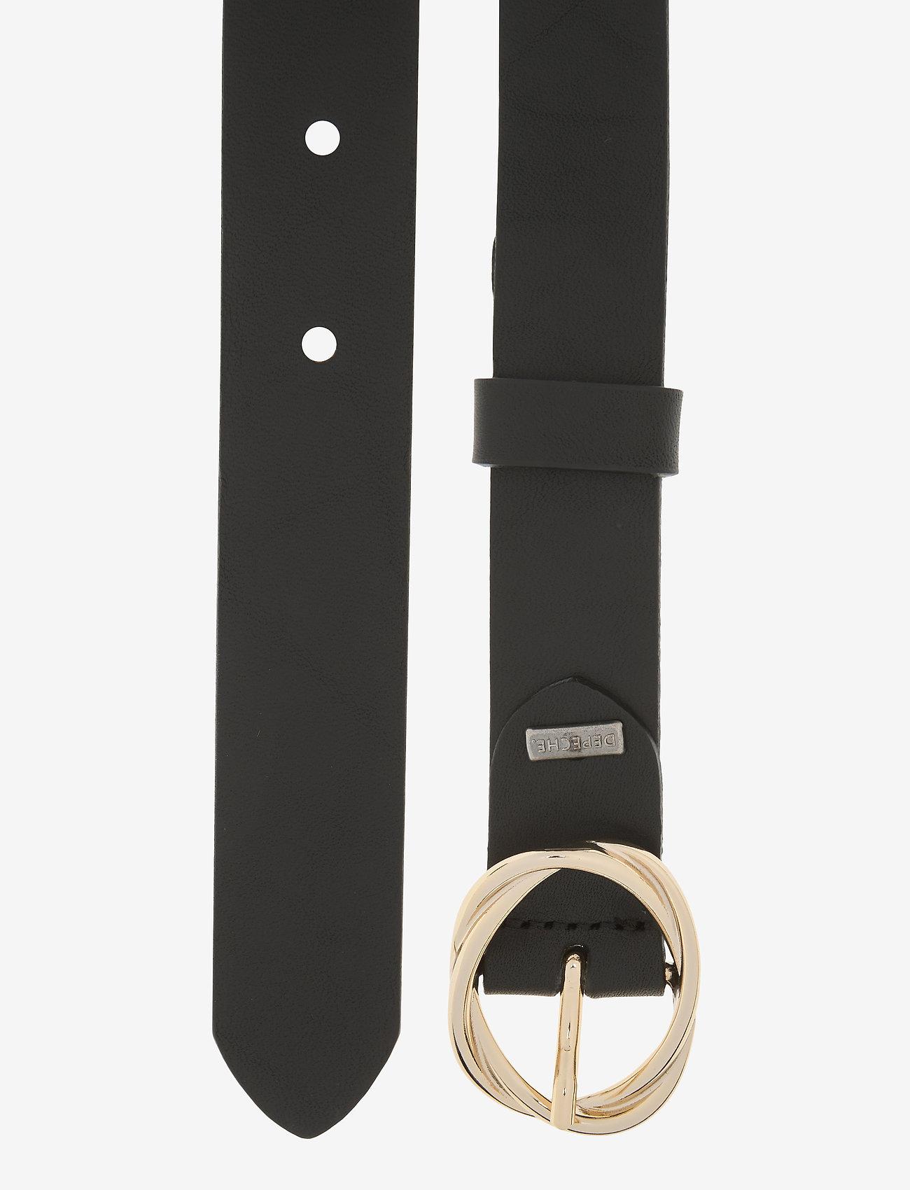 DEPECHE - Jeans belt - riemen - gold - 1
