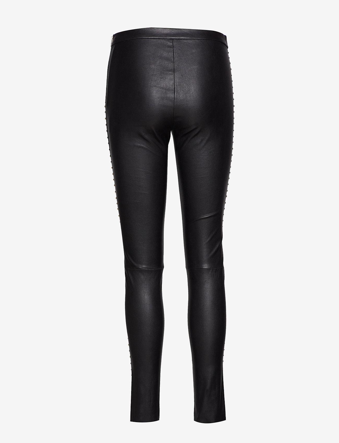 DEPECHE - Leggings w/studs - leggings - 097 gold (platino)