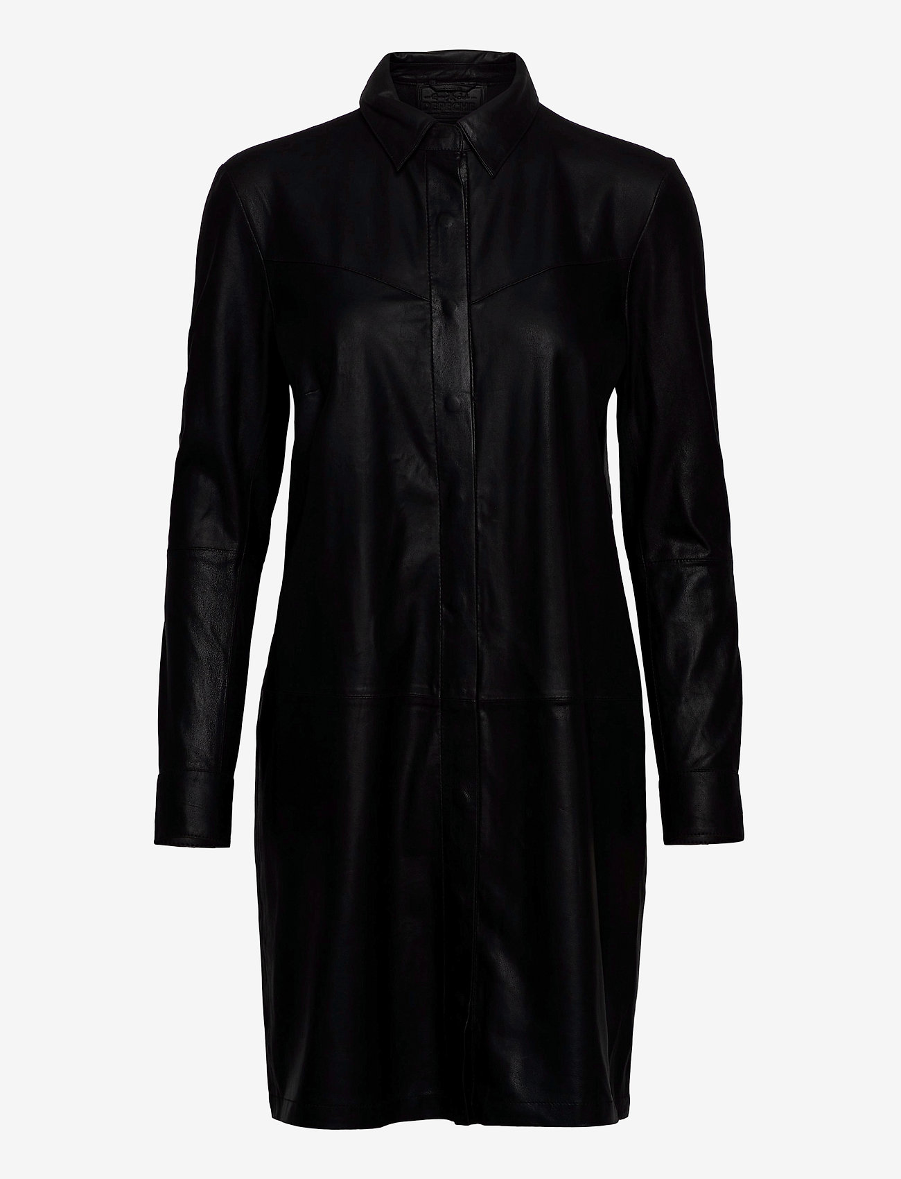 DEPECHE - Long shirt - robes courtes - black - 0