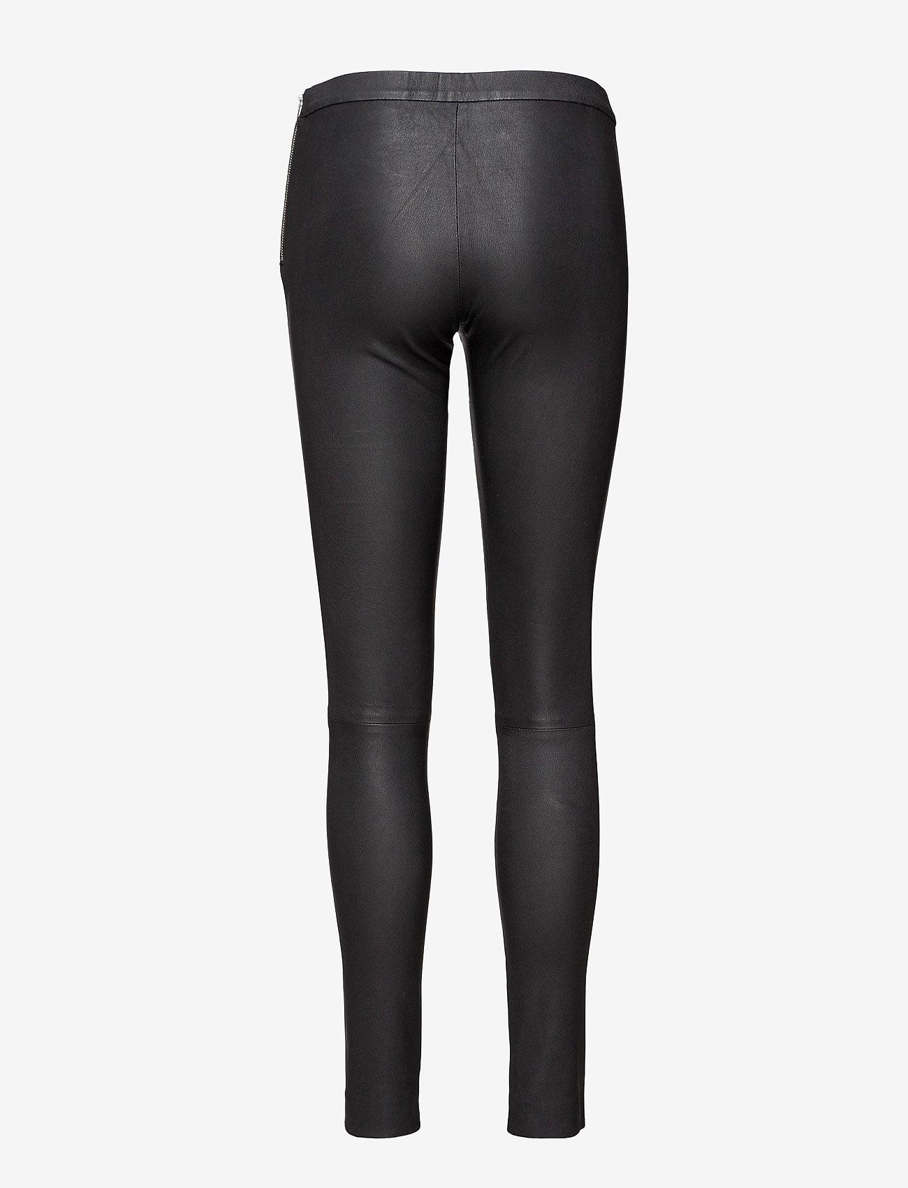 DEPECHE - Pants - læderbukser - black - 1