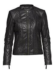 Basic jacket with stitches - BLACK