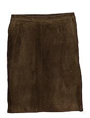 A skirt with elastic waistband - ARMY GREEN