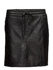 Skirt with smock waist - BLACK