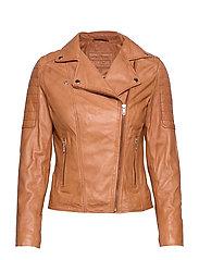 Biker jacket - Cognac