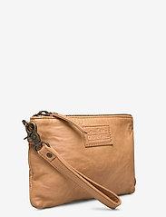 DEPECHE - Cosmetic bag - kirjekuorilaukut - 156 camel - 2
