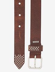 DEPECHE - Narrow belt - riemen - dark brown - 1