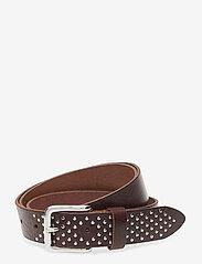 DEPECHE - Jeans belt - riemen - dark brown - 0