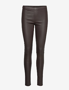 Plain legging with zip at top - BROWN