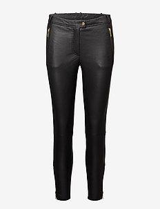 7/8 Pants w/zipper pocket and zipper at bottom - slim fit broeken - gold