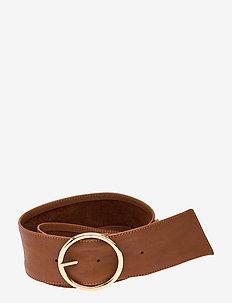 Wide belt - bælter - 014 cognac