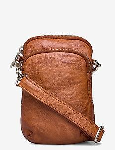 Mobilebag - axelremsväskor - cognac