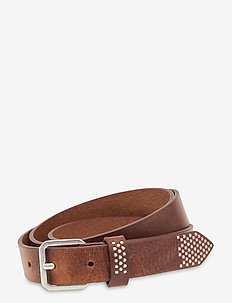 Narrow belt - skärp - dark brown