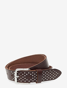 Jeans belt - belter - dark brown