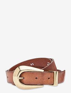 Jeans belt - bælter - cognac