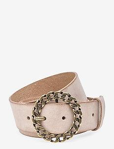 Jeans belt - bælter - sand.