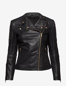 Jacket w/studs - kåper - 097 gold (platino)