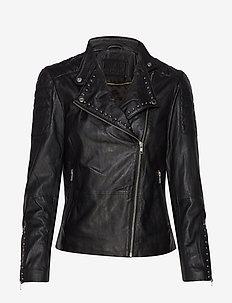 Jacket w/studs - płaszcze - silver