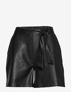 Shorts w/belt - skinn shorts - black
