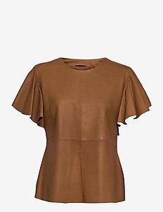 Top - short-sleeved blouses - 156 camel