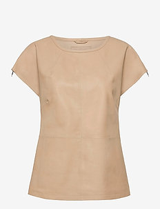 Top - short-sleeved blouses - dark vanilla