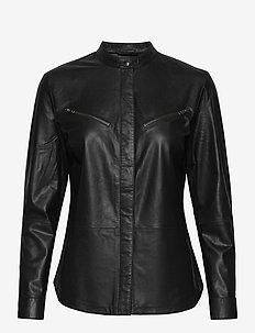 Shirt - långärmade skjortor - black