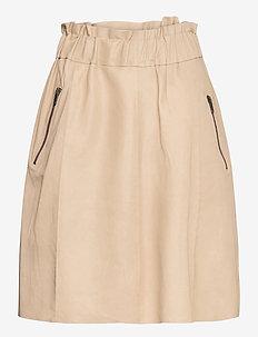 Skirt - midi kjolar - dark vanilla
