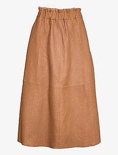 Long skirt - midi rokken - camel