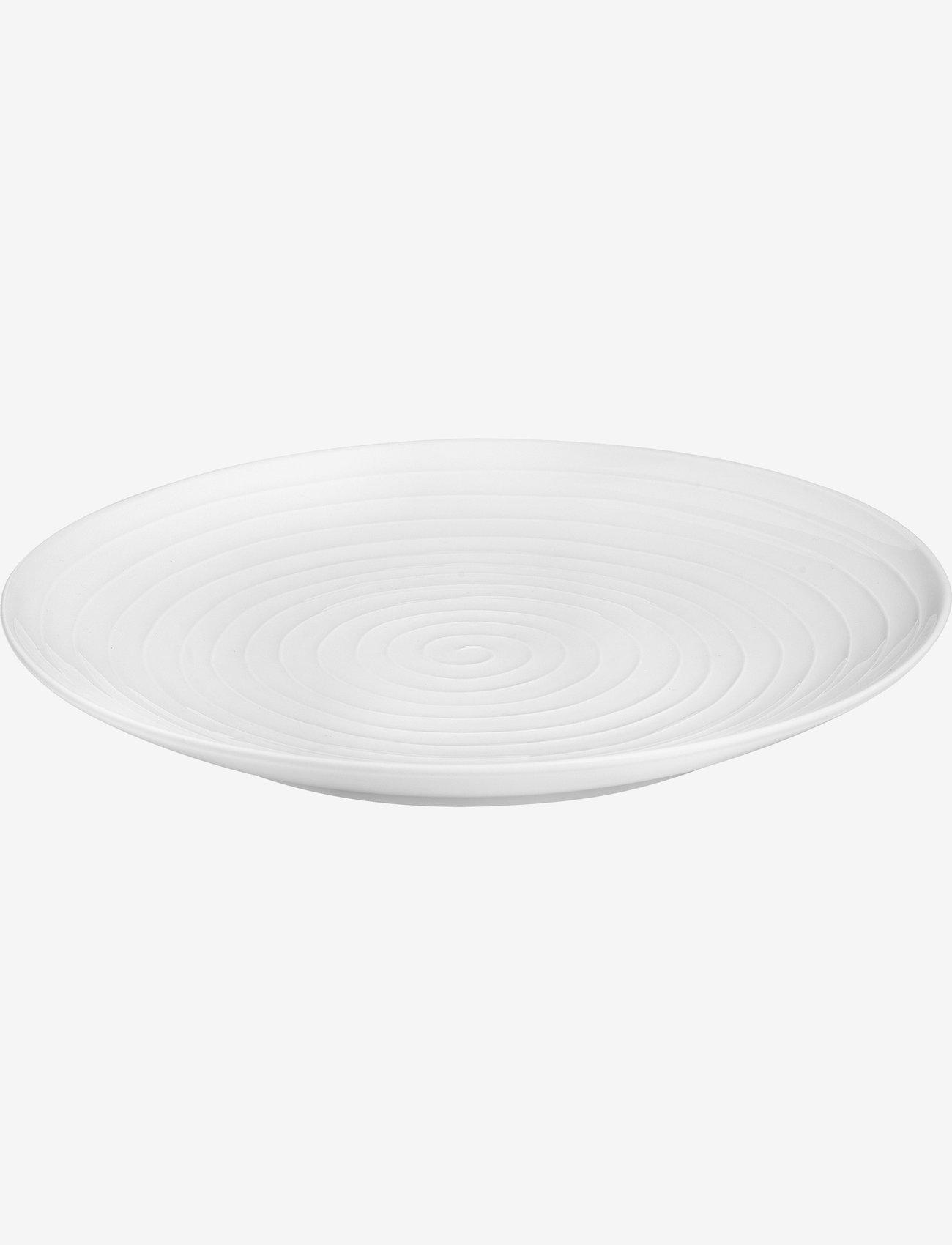 Design House Stockholm - Blond big serving plate - serveringsfat - white/stripe - 0