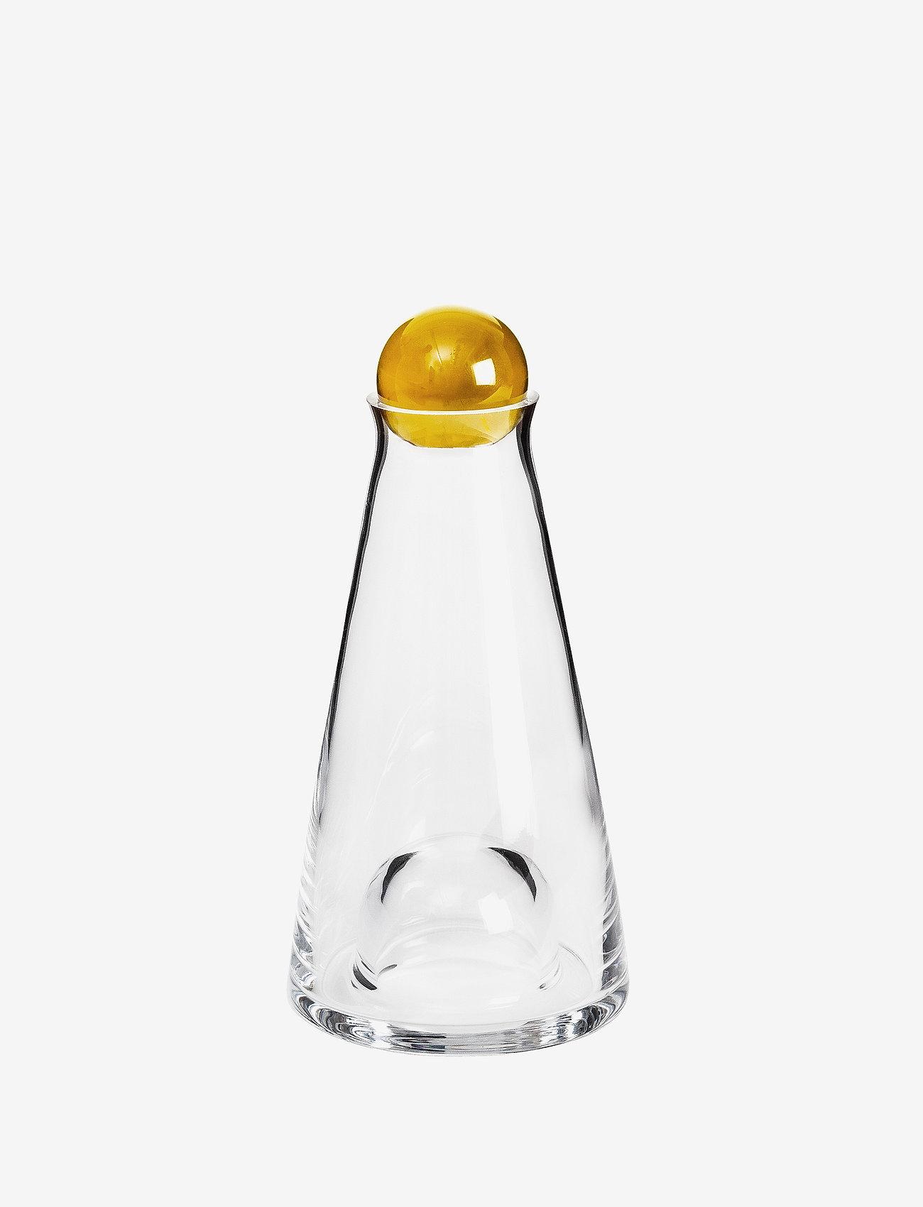 Design House Stockholm - Fia Carafe Mini - vannkarafler - clear/amber - 0