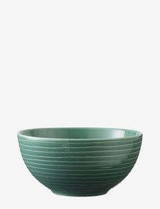 Blond soup/cereal bowl - frokostskåler - green/stripe